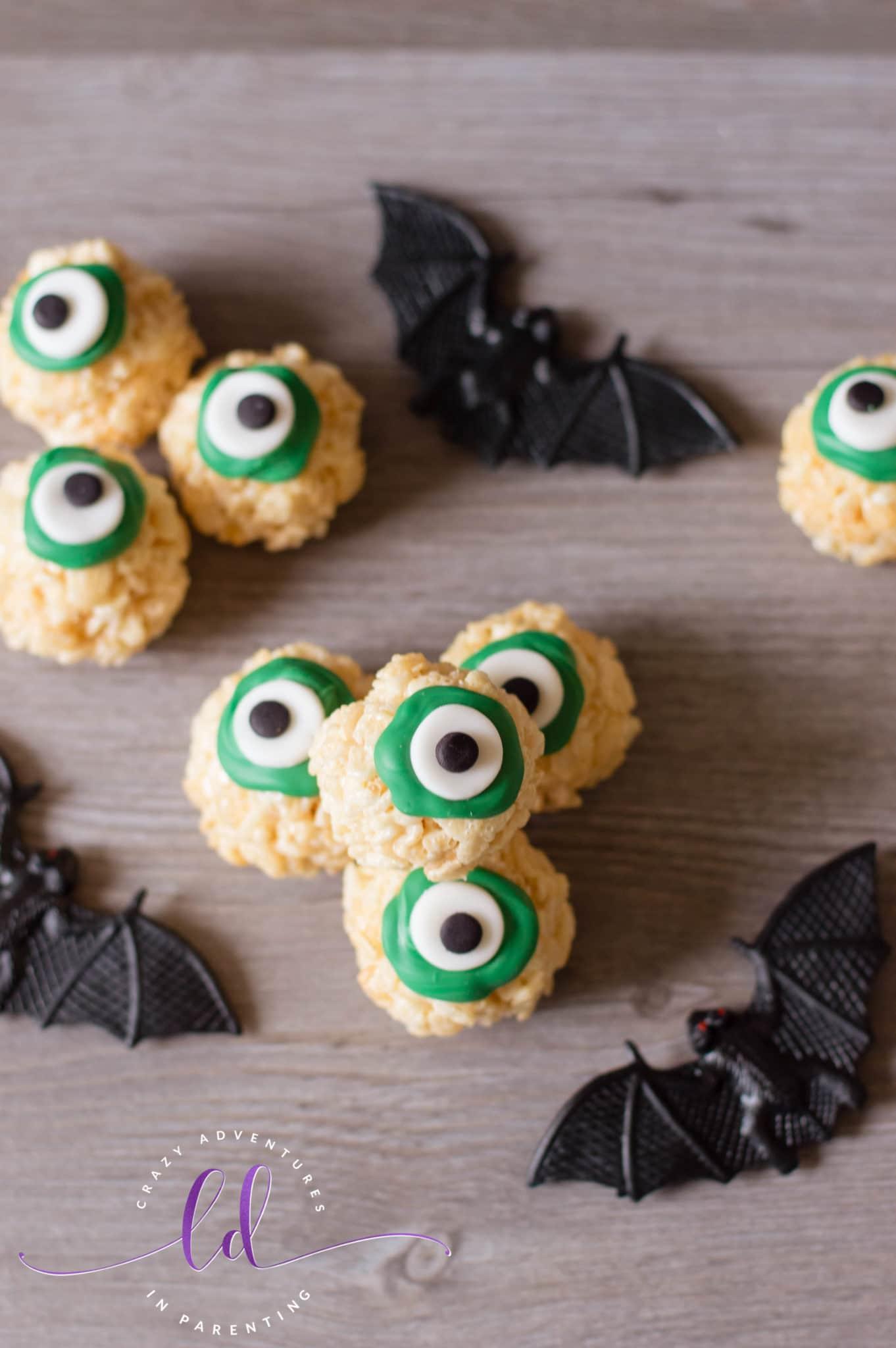 Fun Halloween Eyeballs Rice Krispies Treats
