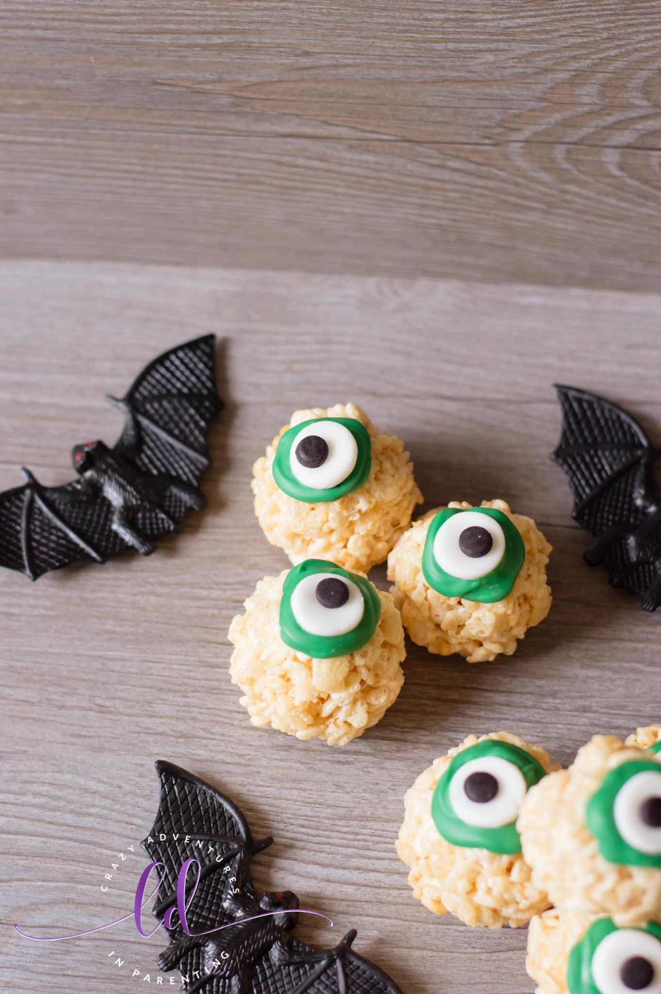 Halloween Eyeballs Rice Krispies Treats Recipe