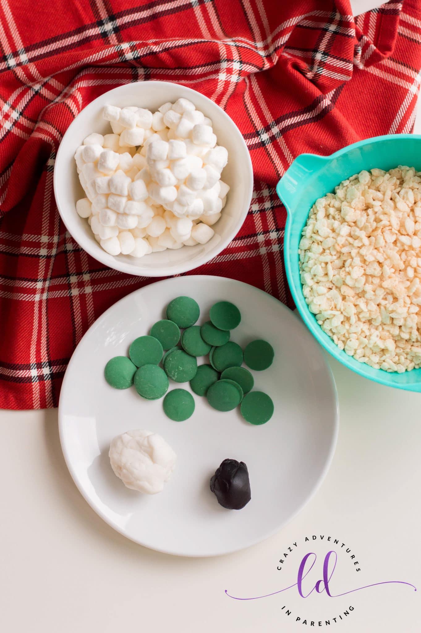 Ingredients Needed to Make Halloween Eyeballs Rice Krispies Treats