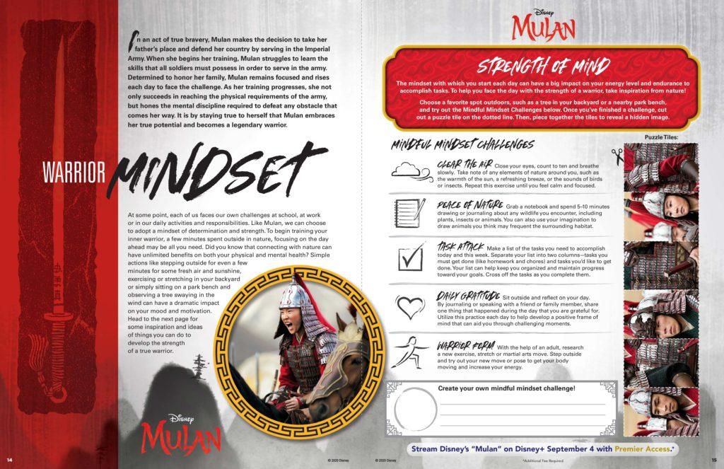 MULAN Mindset Activity Sheet