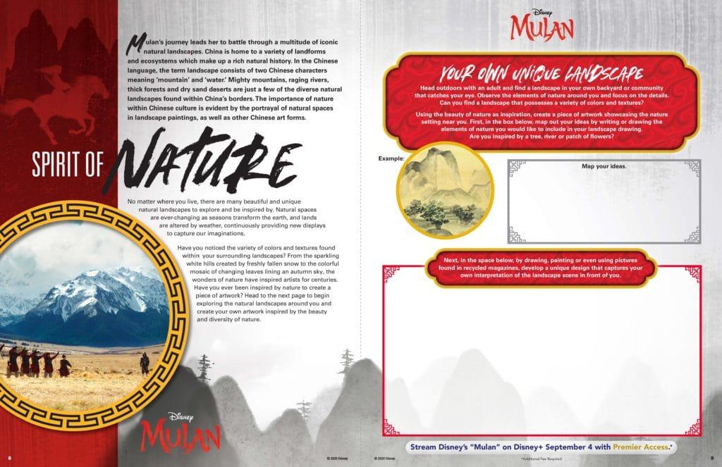 MULAN Nature Landscape Activity Sheet