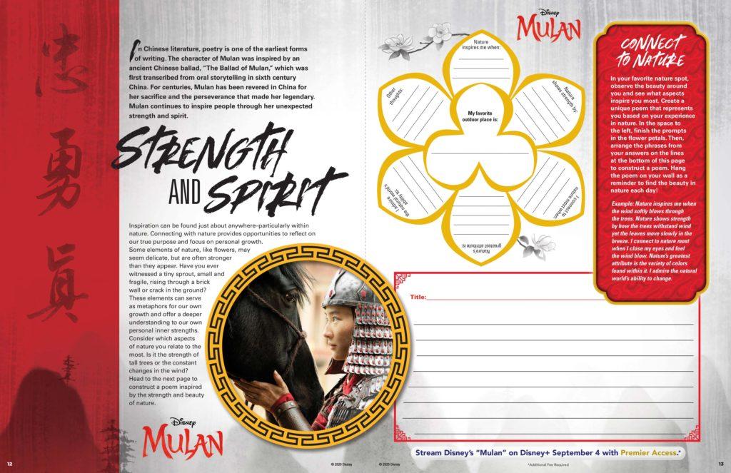 MULAN Nature Spirit Activity Sheet