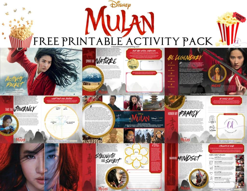 Mulan Printable Activity Pack