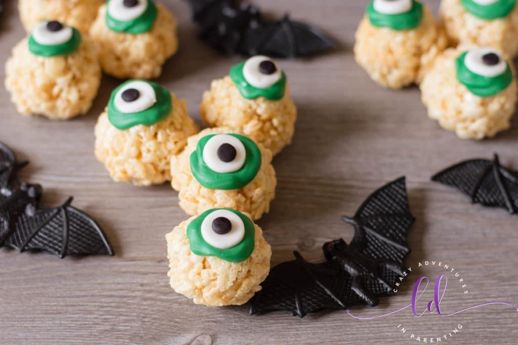 Not So Scary Halloween Eyeballs Rice Krispies Treats