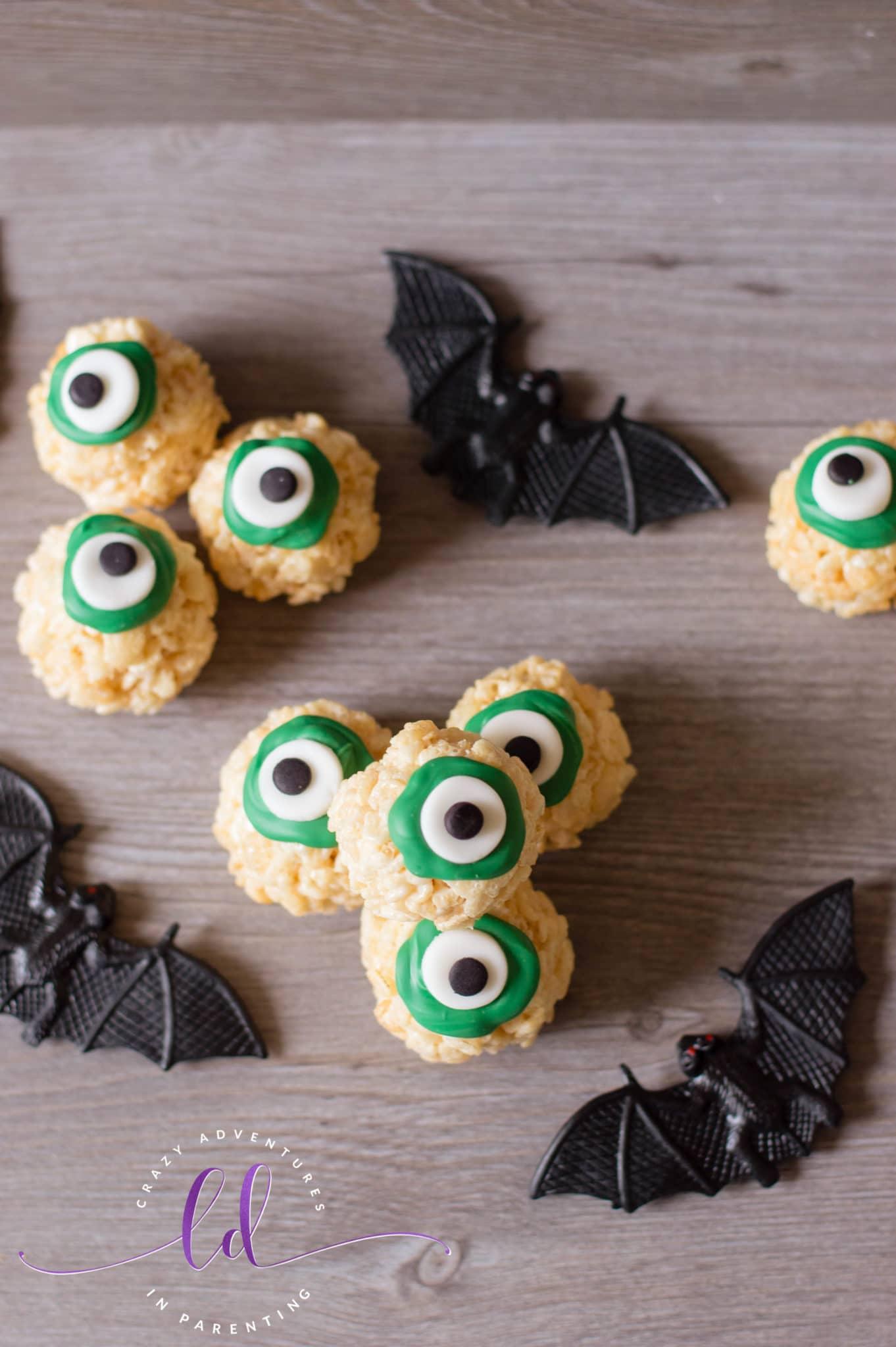 Not So Spooky Halloween Eyeballs Rice Krispies Treats
