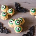Simple Halloween Eyeballs Rice Krispies Treats