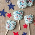 Patriotic Meringue Pops Recipe