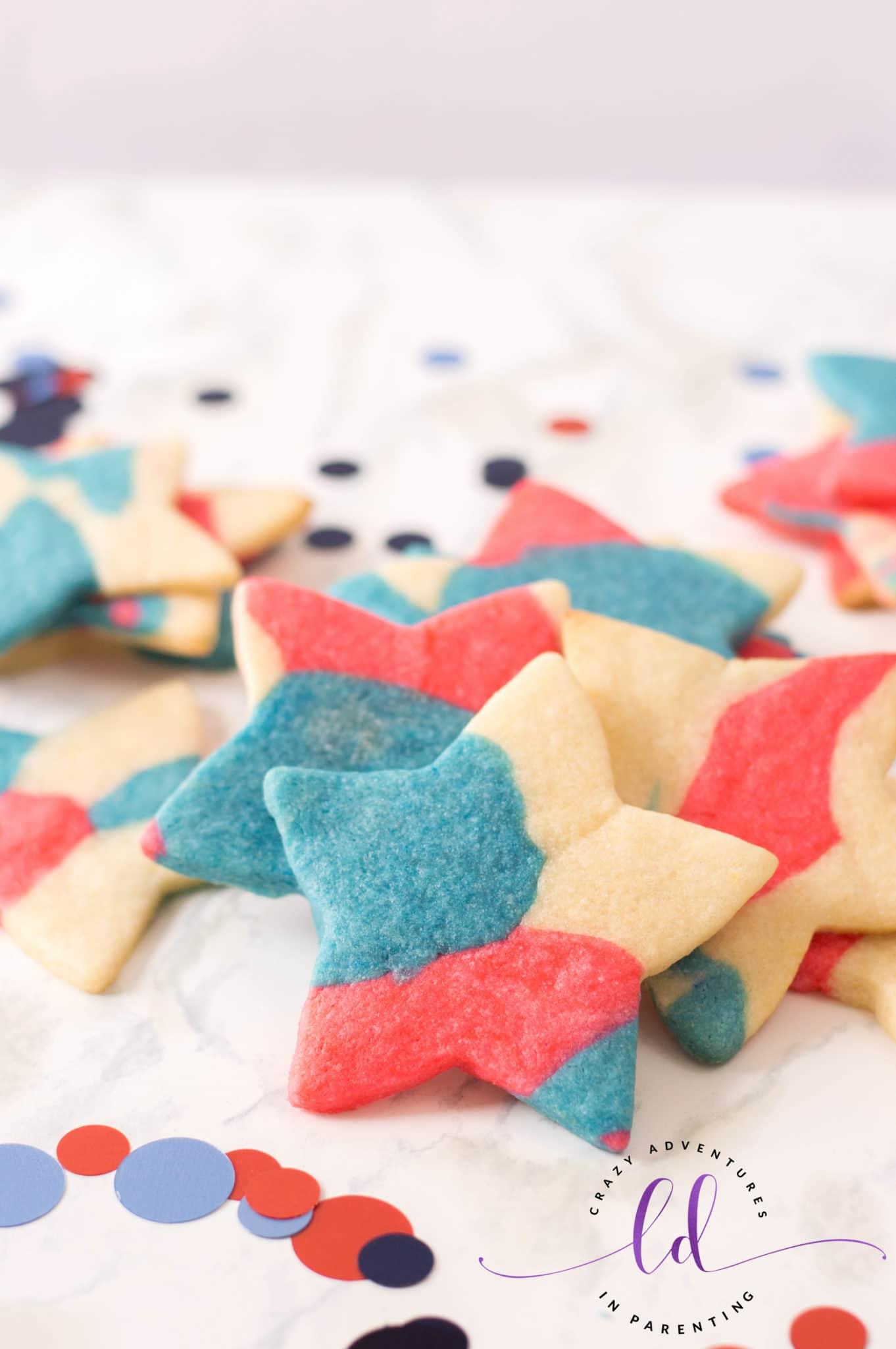 Patriotic Sugar Cookies Recipe for Flag Day