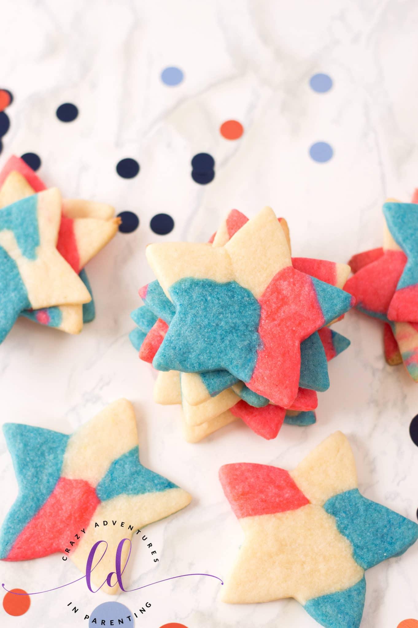 Simple Patriotic Sugar Cookies