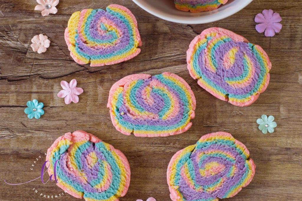 Simple Rainbow Unicorn Cookies
