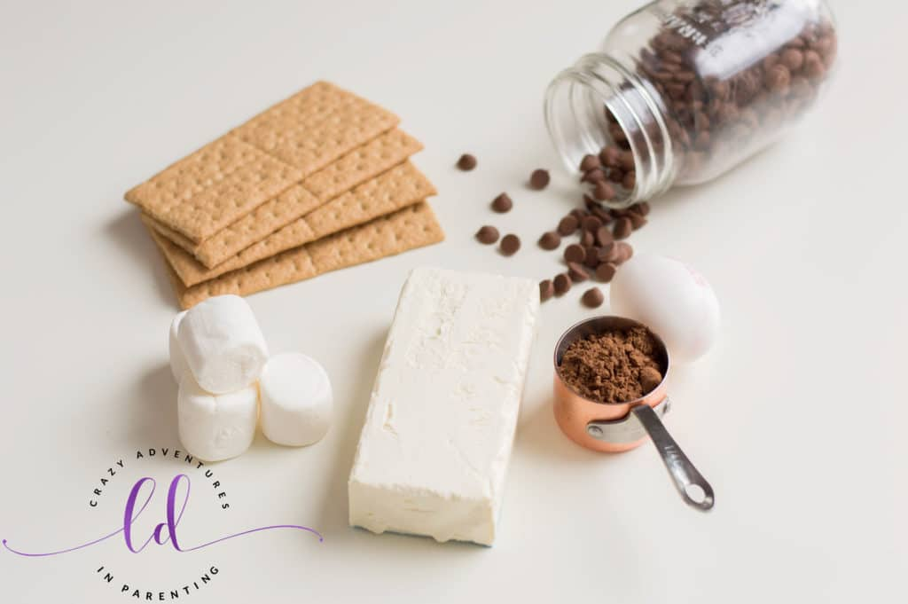 Ingredients to Make S'mores Mini Cheesecakes