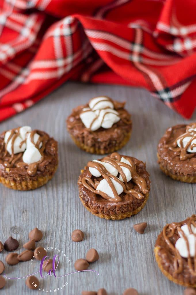 Simple S'mores Mini Cheesecakes Recipe